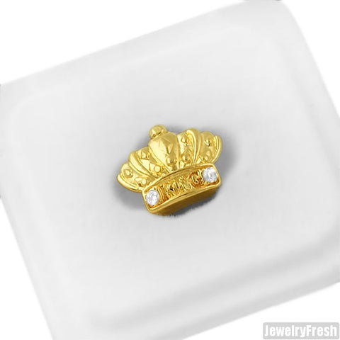 Gold Single Tooth Crown Grill Cap