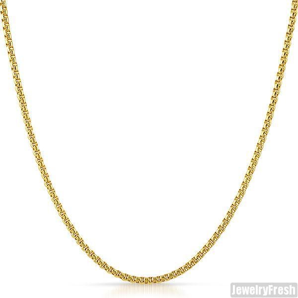 3mm 14K Gold IP Rounded Box Chain