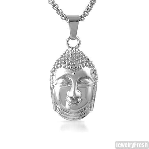 Stainless Steel Thai Buddha Pendant Set