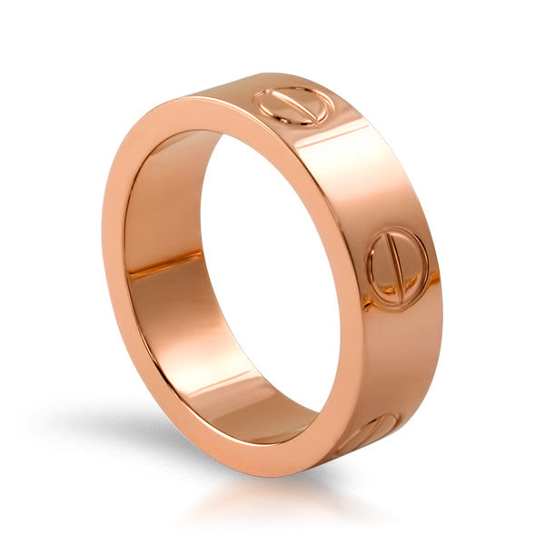 Rose Gold Finish Designer Style Ring