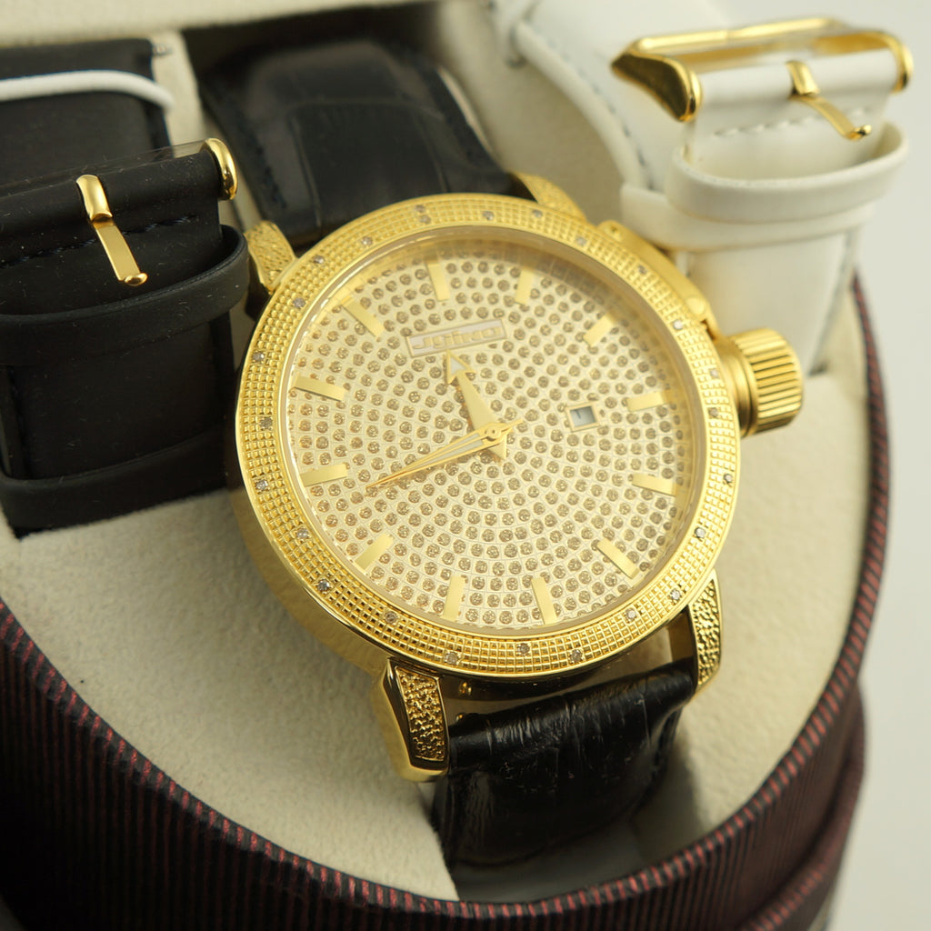 Mens Gold Jojino 0.25 Carat Diamond Watch