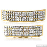 4 Row Princess Cut Gold Grill Combo