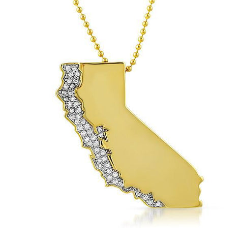 Gold JF Custom California Limited Edition Pendant