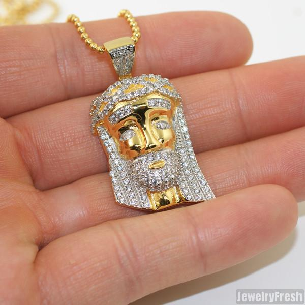 Sterling Silver Two Tone Mini Jesus Piece