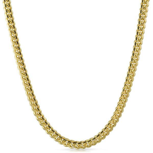 7mm 14K Gold Dipped Italian 925 Cuban Chain