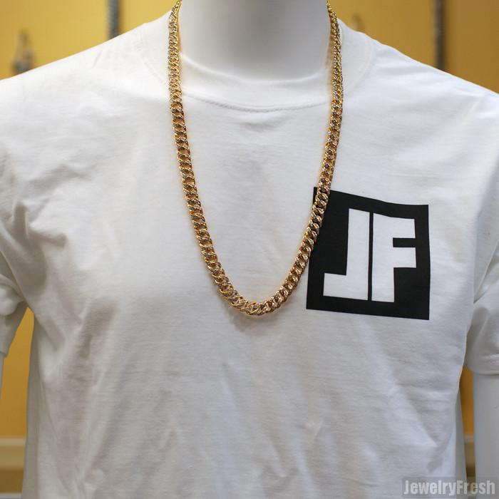 18k Gold Finish Iced Out Miami Cuban Chain