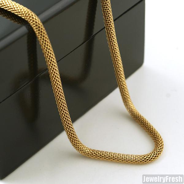 4mm Gold 14K IP Popcorn Snake Chain