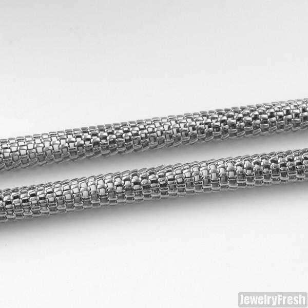 4mm Stainless Steel Popcorn Snake Chain