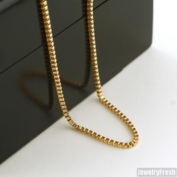 2mm Gold 14K IP Polished Box Chain