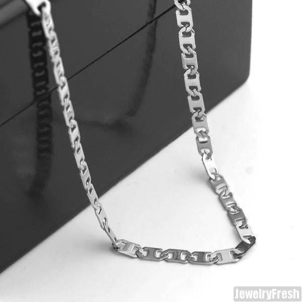4mm Stainless Steel Mariner Chain Necklace
