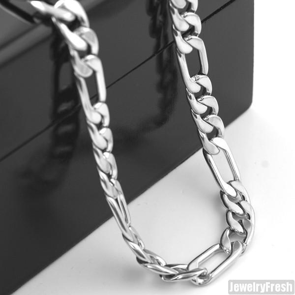 8mm Stainless Steel Italian Figaro Chain