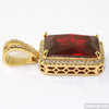 Large Lab Ruby Royal Gold Pendant Set