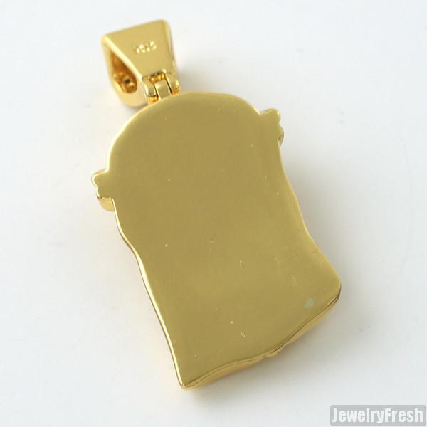 Gold Canary Solid Back Micro Jesus Piece
