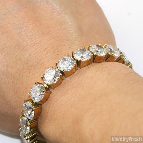 14K Gold IP 73 Carat Flawless CZ Bracelet