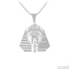 Silver 3D Egyptian Pharoah Pendant Chain