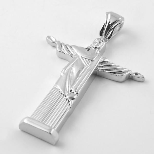 Silver Jesus Christ Full Body Pendant