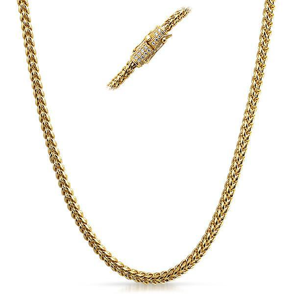 4mm 18K Gold IP Luxury Edition Franco Chain