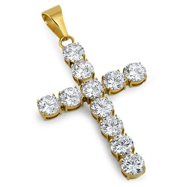 42.5 Carat Lab Diamond Gold Luxury Cross