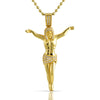 0.45 CTW Genuine Diamond Gold Jesus Crucifix