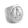 Silver Finish Oversized Freemason Ring