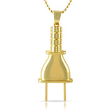 Gold Plain Polished Plug Pendant