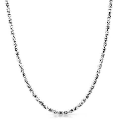 3mm Sterling Silver Moon Cut Barrel Chain
