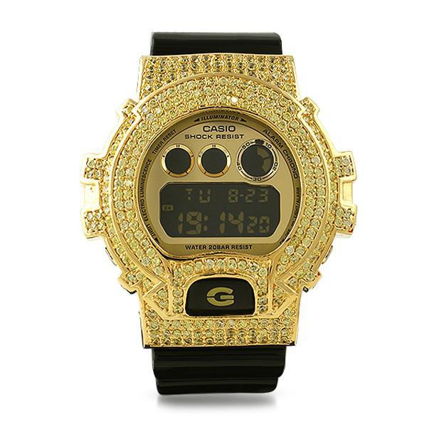 Black and Gold Limited Edition Iced Out G-Shock Watch – JewelryFresh 8e5ff558bac2