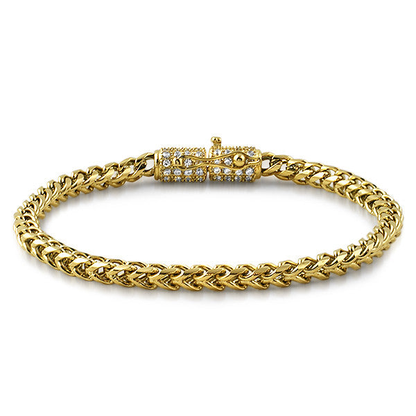 bracelet jewelry fine gold mens men white bracelets s franco