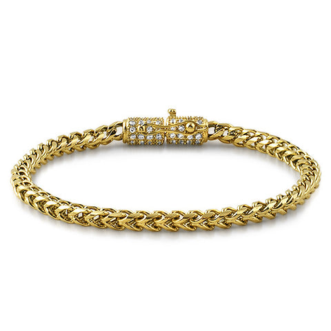 14K Gold IP Luxury Edition Franco Bracelet
