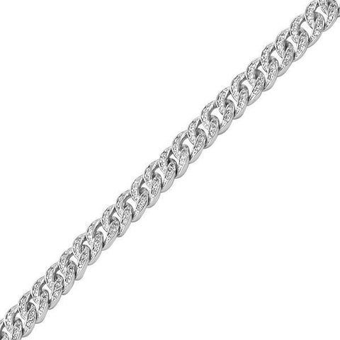 6mm Silver Iced Out Miami Cuban Bracelet