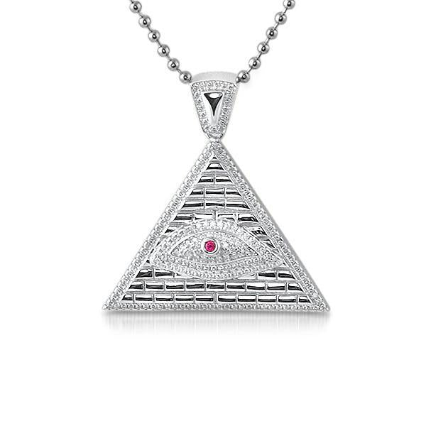 925 Silver All Seeing Eye Pyramid Pendant