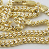 5mm Two Tone Italian 925 Silver Cuban Chain
