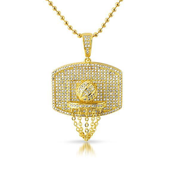 Gold mini basketball hoop pendant with chain jewelryfresh gold mini basketball hoop pendant with chain mozeypictures Images
