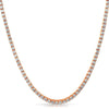 925 Silver Rose Gold 3mm CZ Tennis Chain