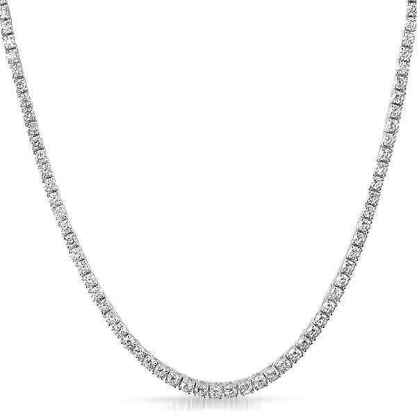 925 Silver 3mm Simulated Diamond Tennis Chain