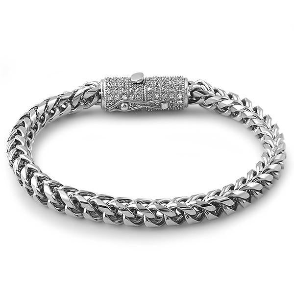 Stainless Steel Luxury Edition Franco Bracelet