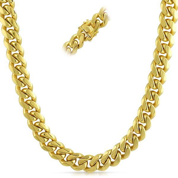 13mm 14k Gold Dipped 925 Silver Jumbo Cuban Chain