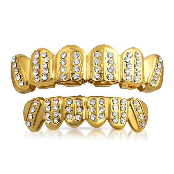 Gold Iced Bars Universal Fitting Grill Combo