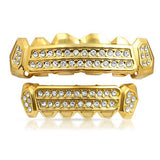 Gold Boss Man Iced Out Grill Combo