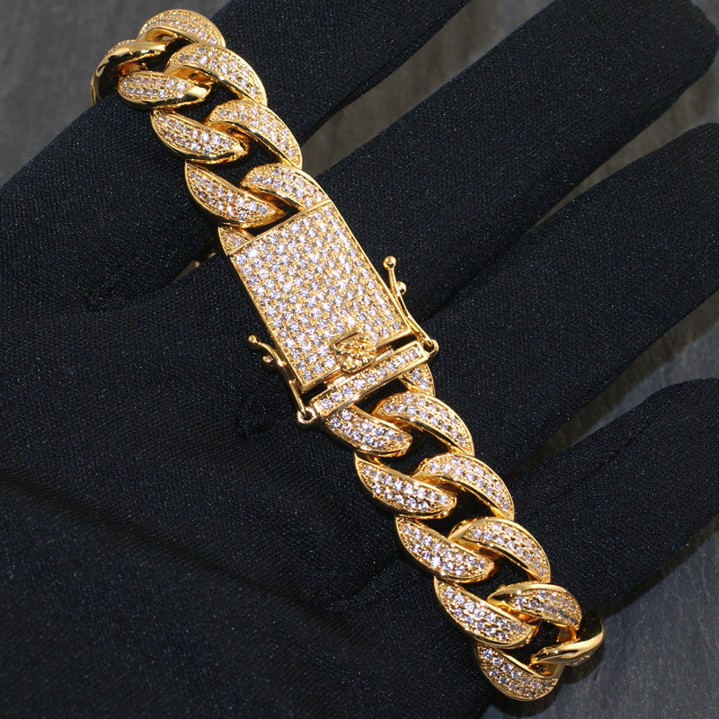 15mm High End Iced Out Miami Cuban Bracelet