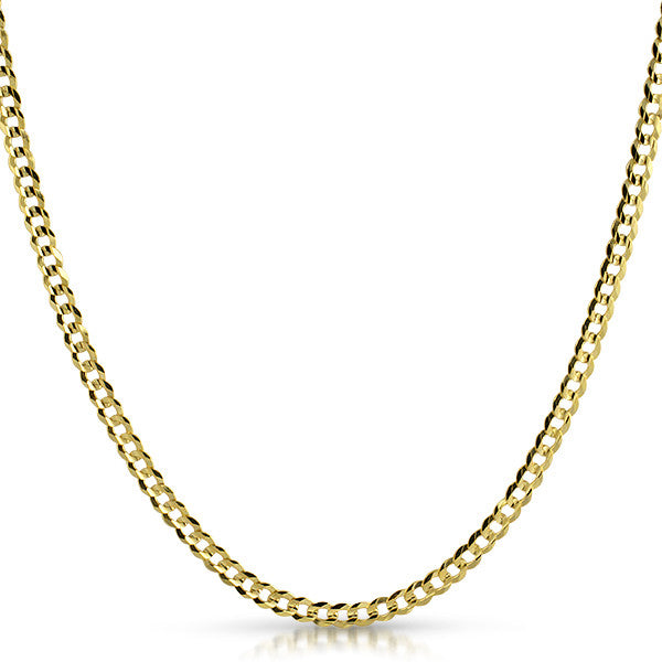 3.5mm Genuine 10K Gold Cuban Chain