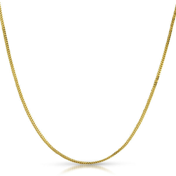 Genuine 1.5mm Skinny 10K Gold Franco Chain