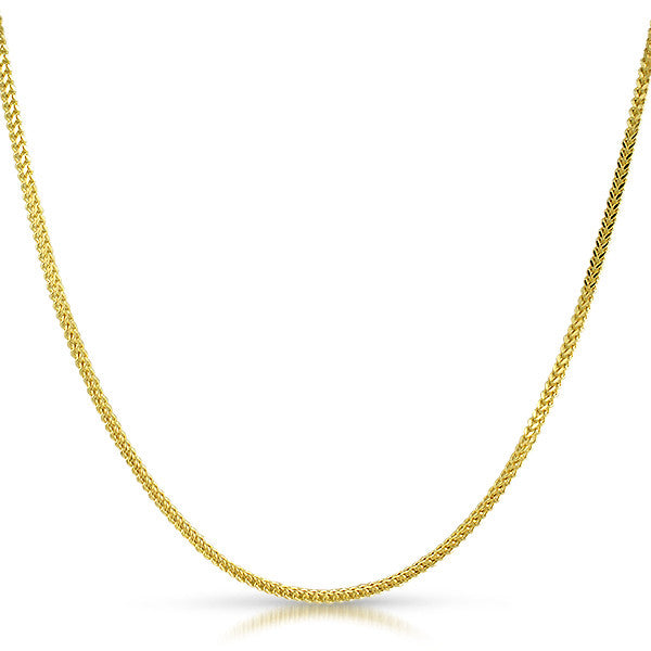 Genuine 2mm Small 10K Gold Franco Chain