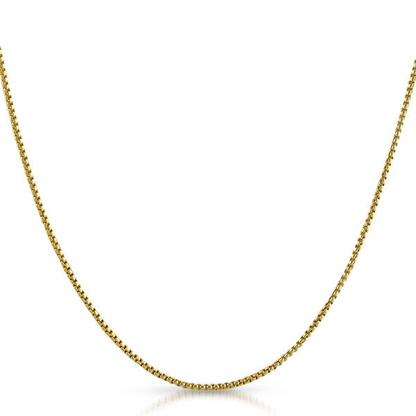Genuine 10K Gold 1.5mm Box Chain