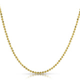 2.5mm Diamond Cut 10K Gold Moon Chain