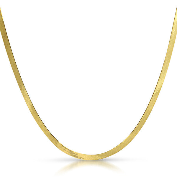 3mm Solid 10K Gold Herringbone Chain