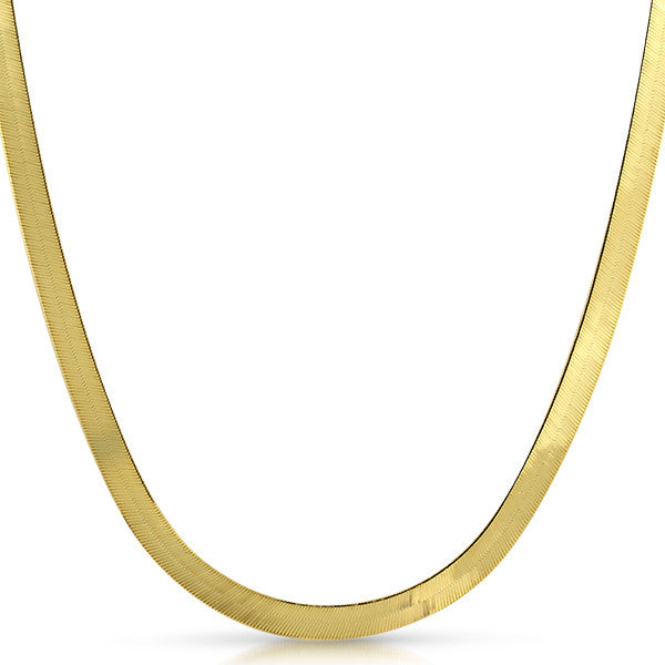 5mm Solid 10K Gold Herringbone Chain