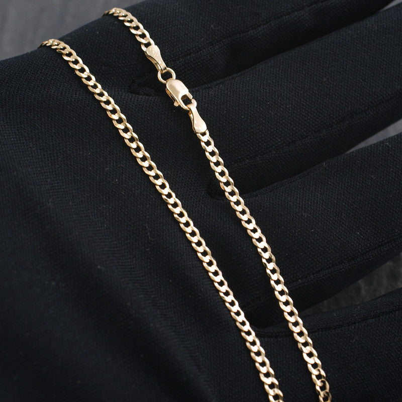 2.5mm Solid 10K Gold Cuban Chain