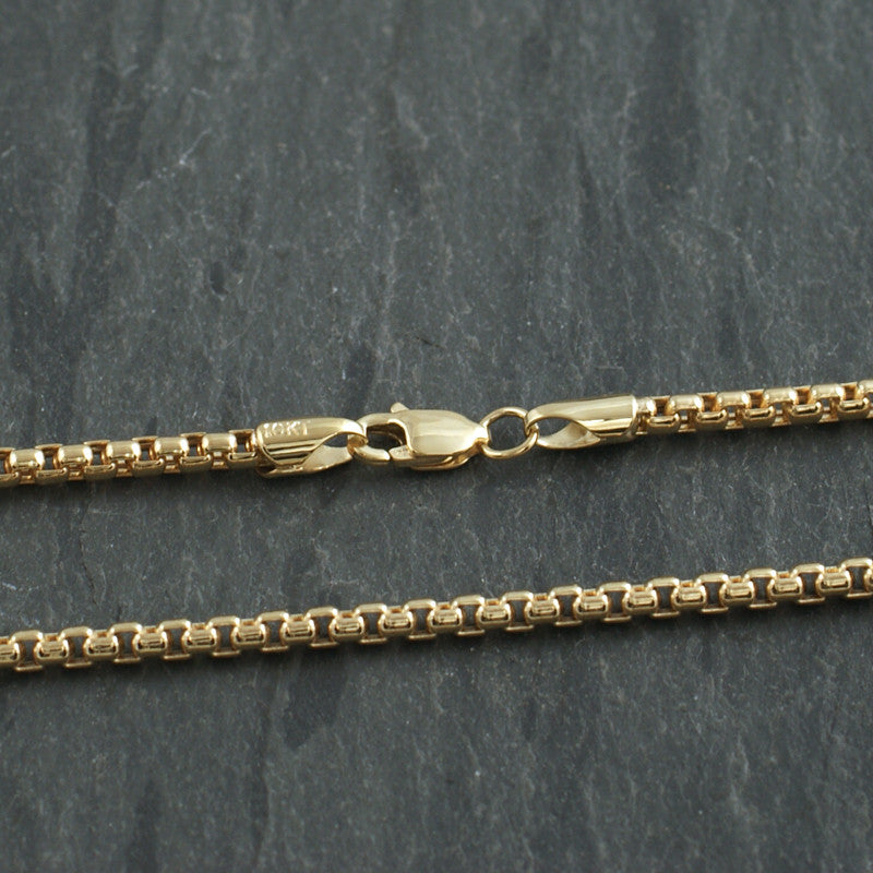 Genuine 10K Gold 2.5mm Box Chain