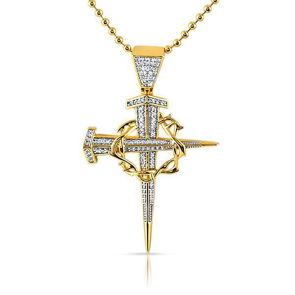 Gold Stake and Thorn Cross Chain